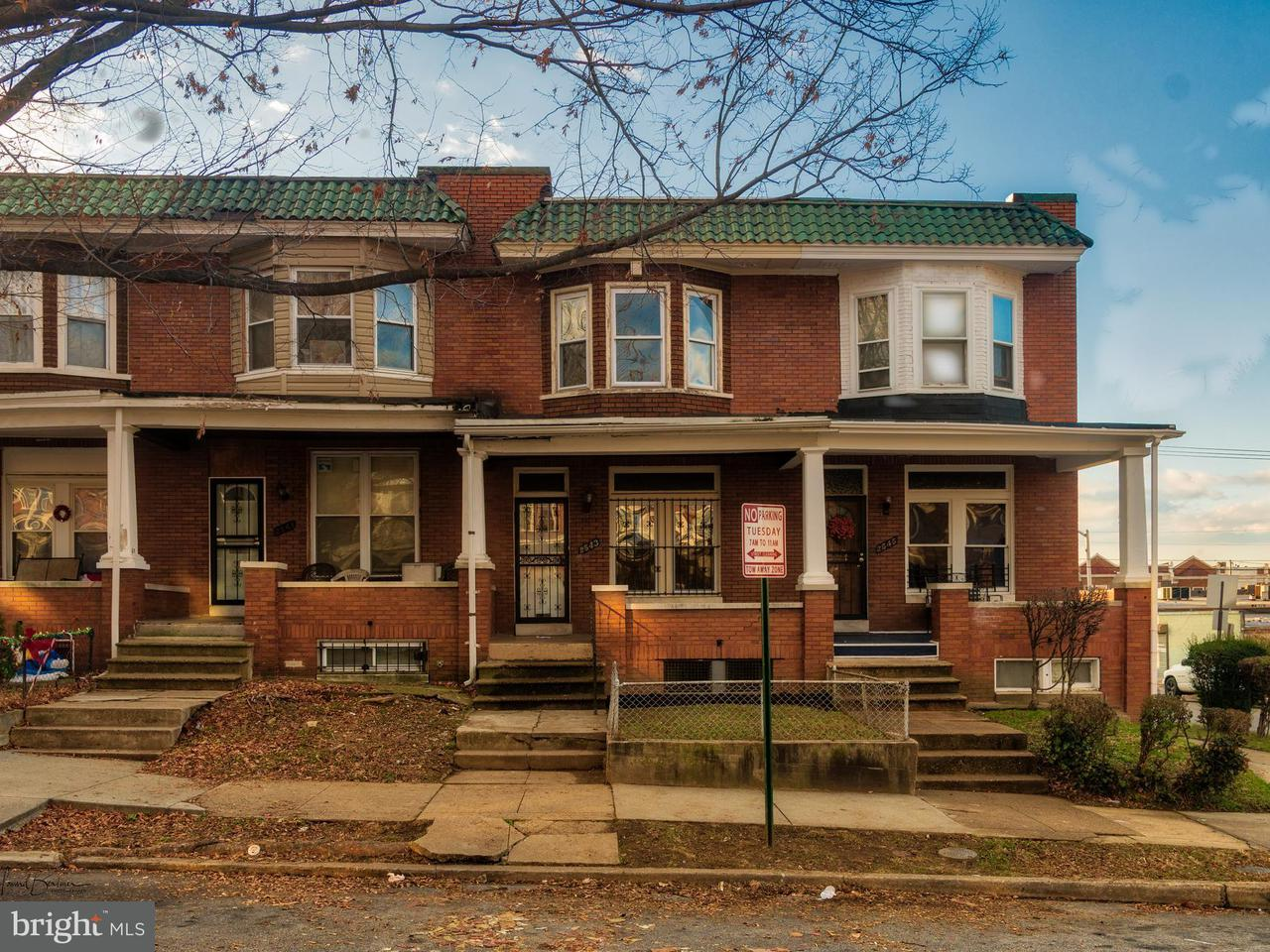Single Family for Sale at 2543 Arunah Ave Baltimore, Maryland 21216 United States