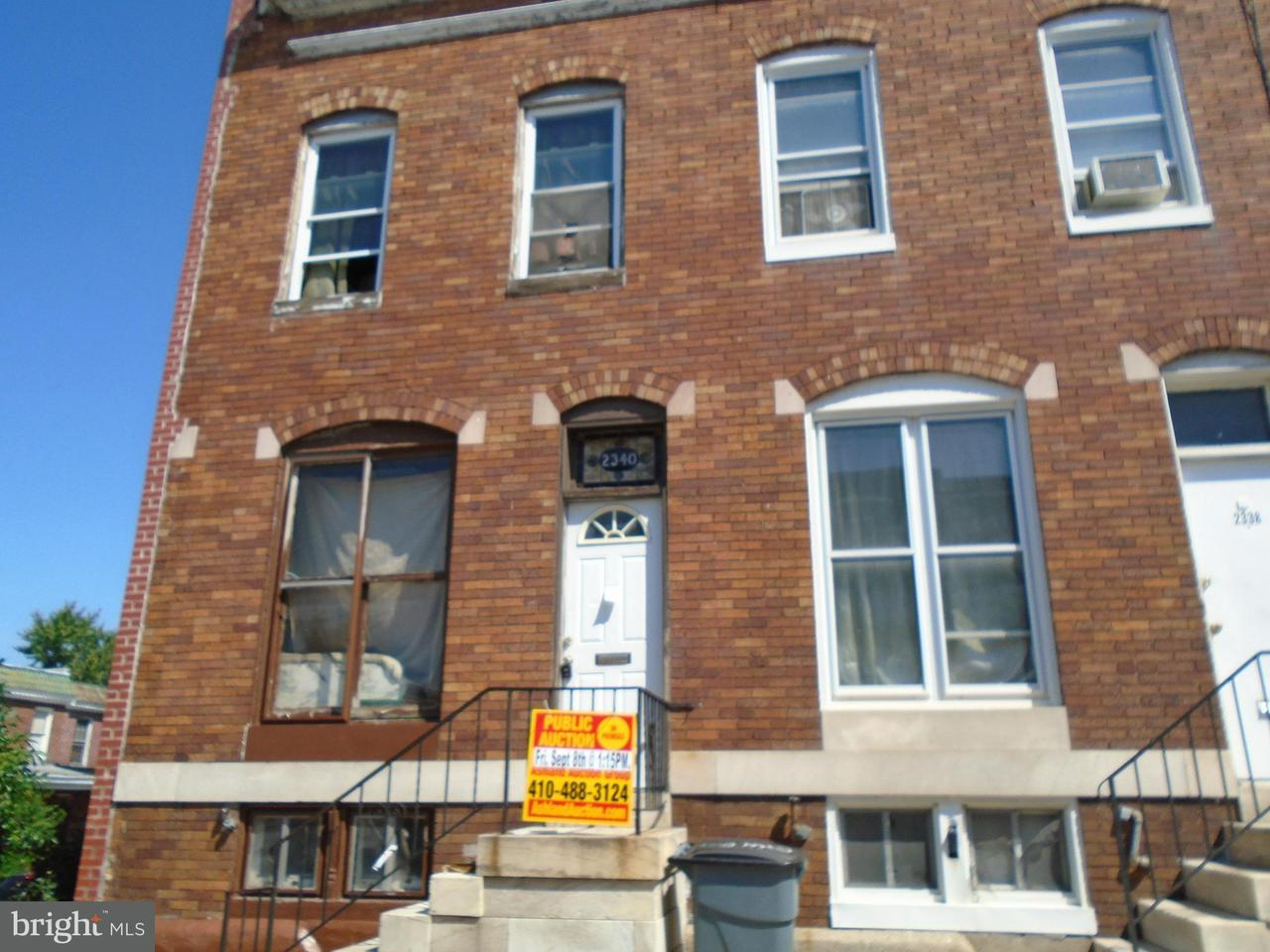 Photo of home for sale at 2340 Fayette Street W, Baltimore MD