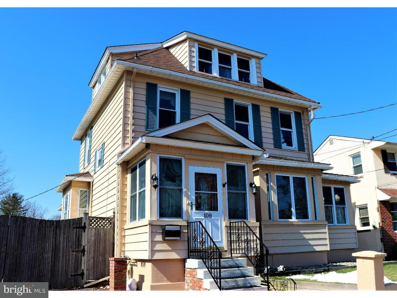 Single Family Home for Sale at 108 SW ATLANTIC Avenue Magnolia, New Jersey 08049 United States