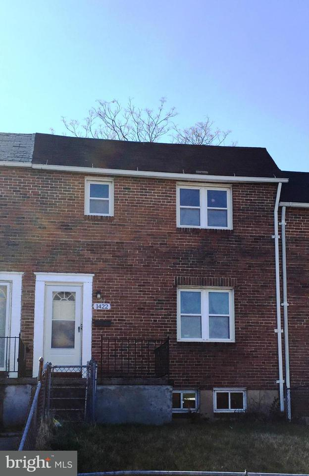 Single Family for Sale at 1422 N Decker Ave Baltimore, Maryland 21213 United States