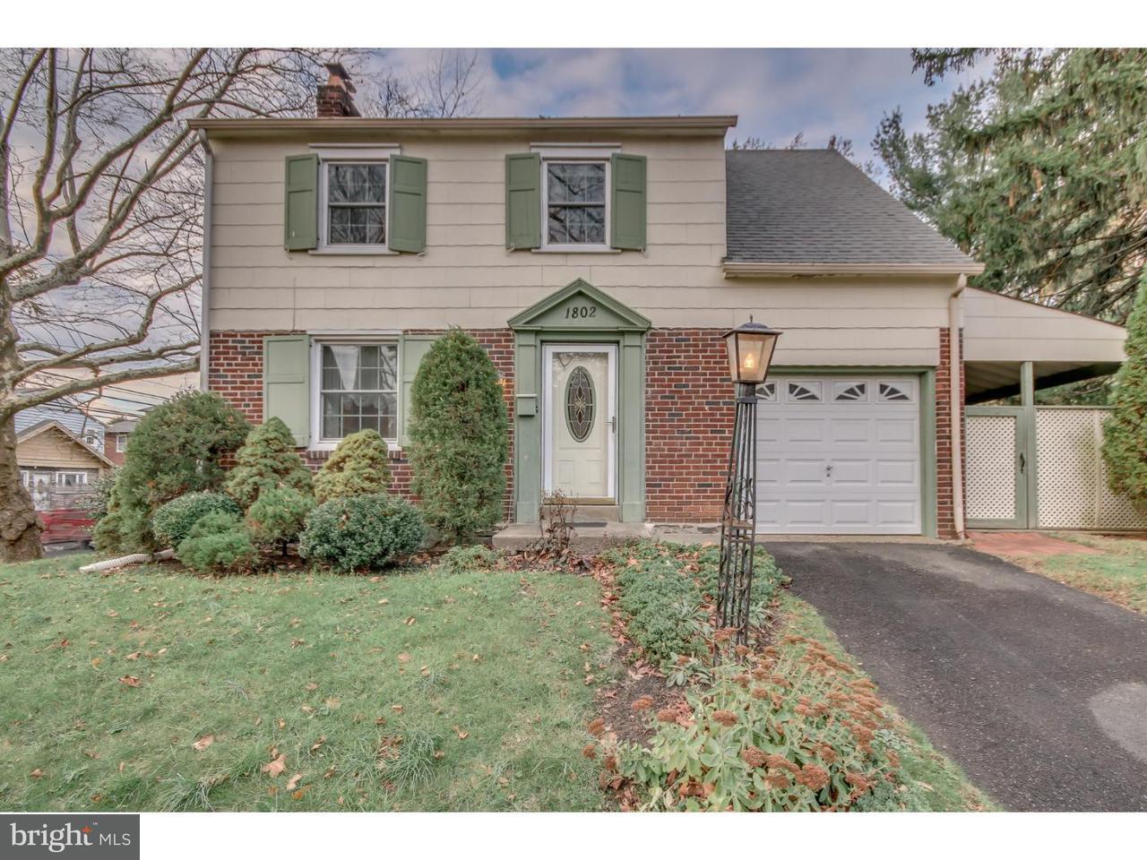 独户住宅 为 销售 在 1802 ALLEN Lane Abington, 宾夕法尼亚州 19001 美国