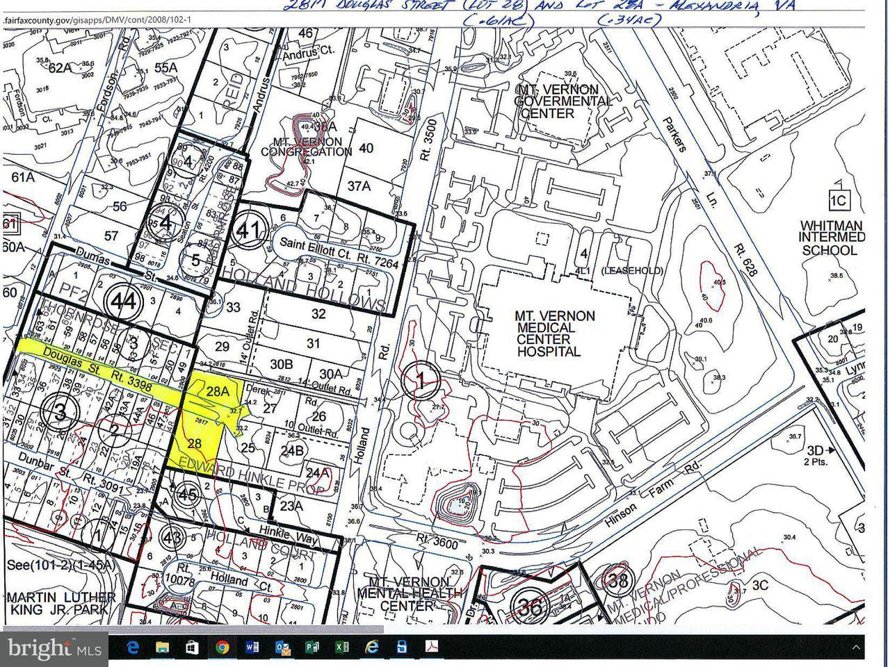 土地 のために 売買 アット 2817 Douglas Street 2817 Douglas Street Alexandria, バージニア 22306 アメリカ合衆国