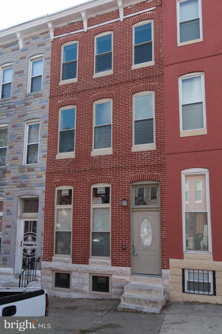 Photo of home for sale at 1613 Biddle Street E, Baltimore MD