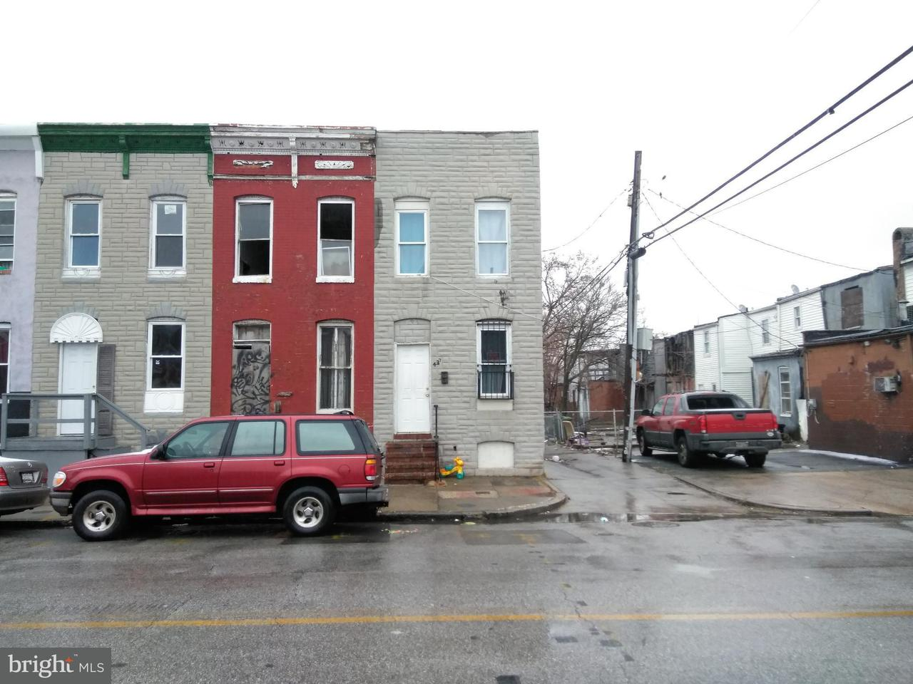Single Family for Sale at 437 Pulaski St S Baltimore, Maryland 21223 United States