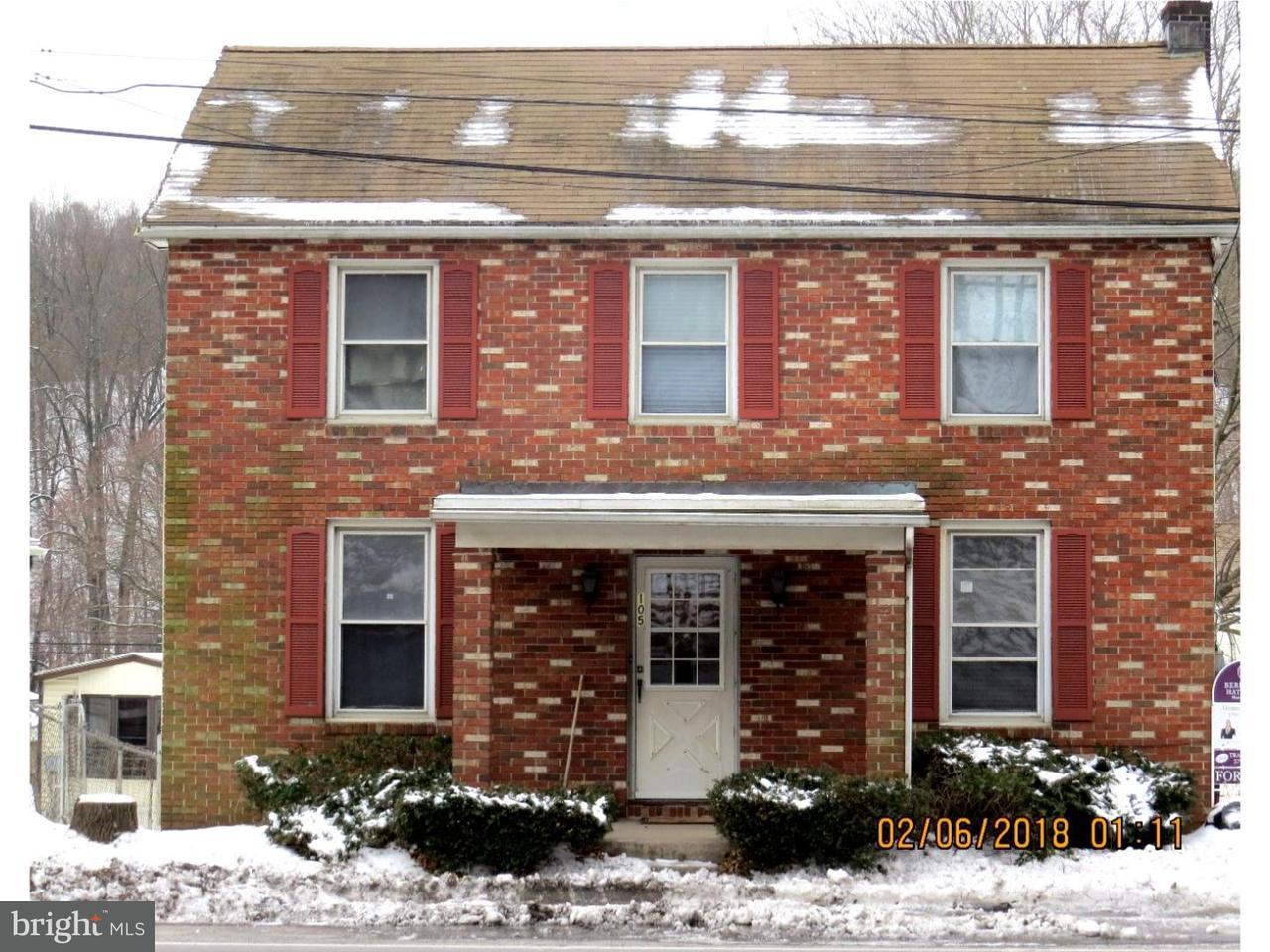 Частный односемейный дом для того Продажа на 157 CENTRE Street Port Clinton, Пенсильвания 19549 Соединенные Штаты