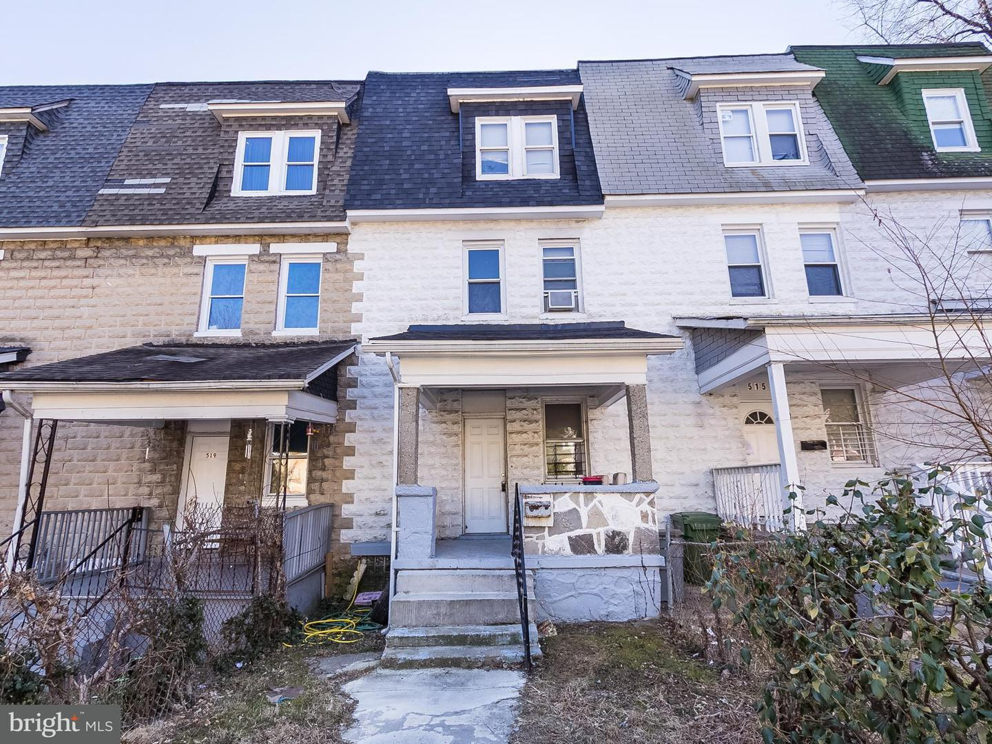 Single Family for Sale at 517 Beaumont Ave Baltimore, Maryland 21212 United States