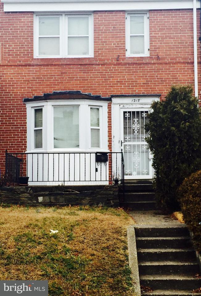 Single Family for Sale at 1218 Glenwood Ave Baltimore, Maryland 21239 United States
