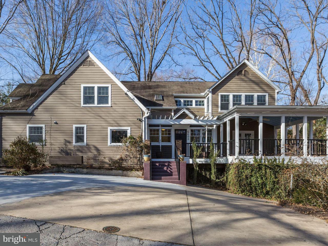 Частный односемейный дом для того Продажа на 6608 80th Place 6608 80th Place Cabin John, Мэриленд 20818 Соединенные Штаты