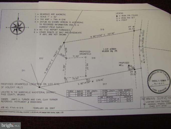 Land for Sale at Off Cross Mountain Rd. Luray, Virginia 22835 United States