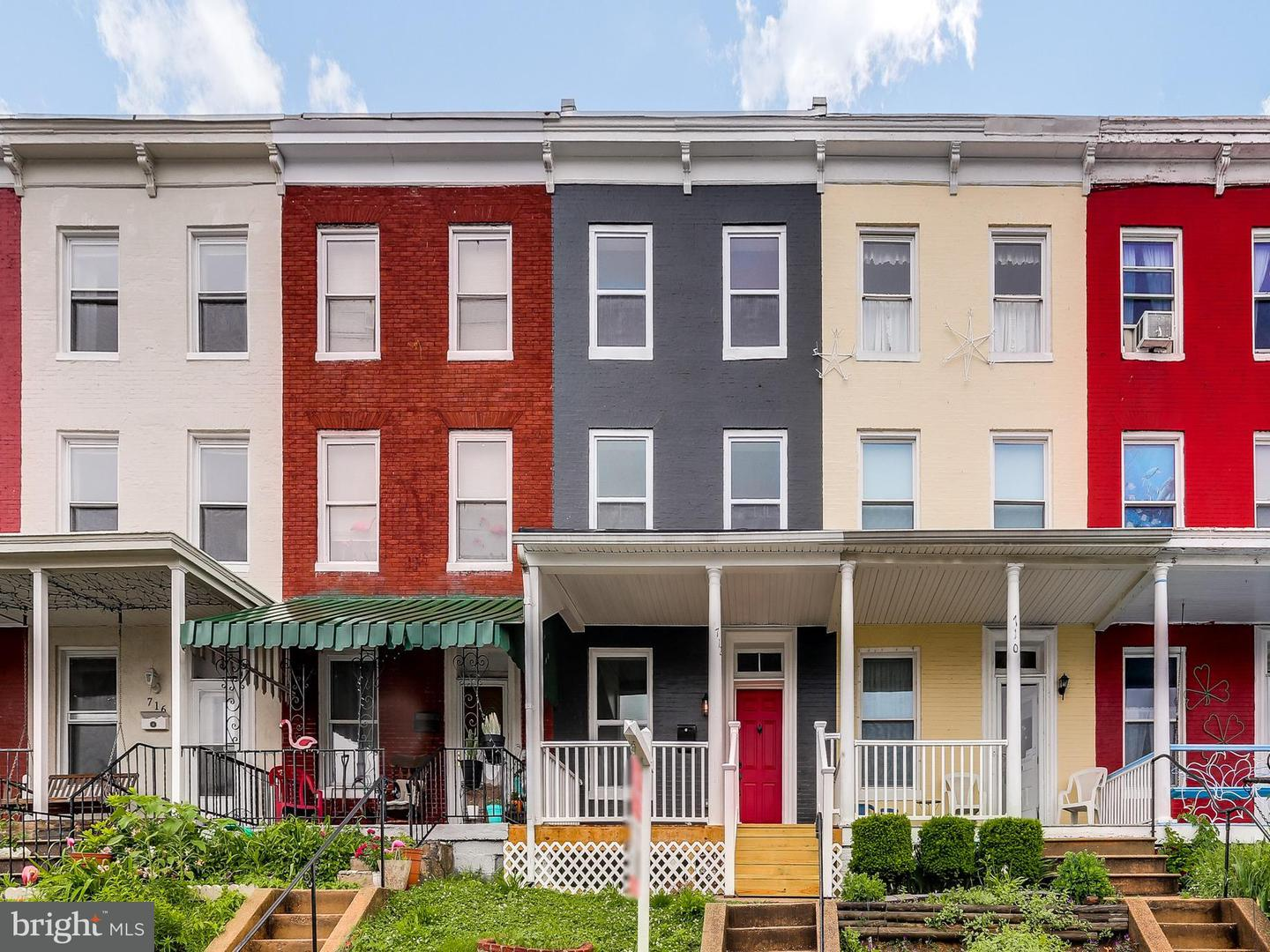 Single Family for Sale at 712 34th St Baltimore, Maryland 21211 United States