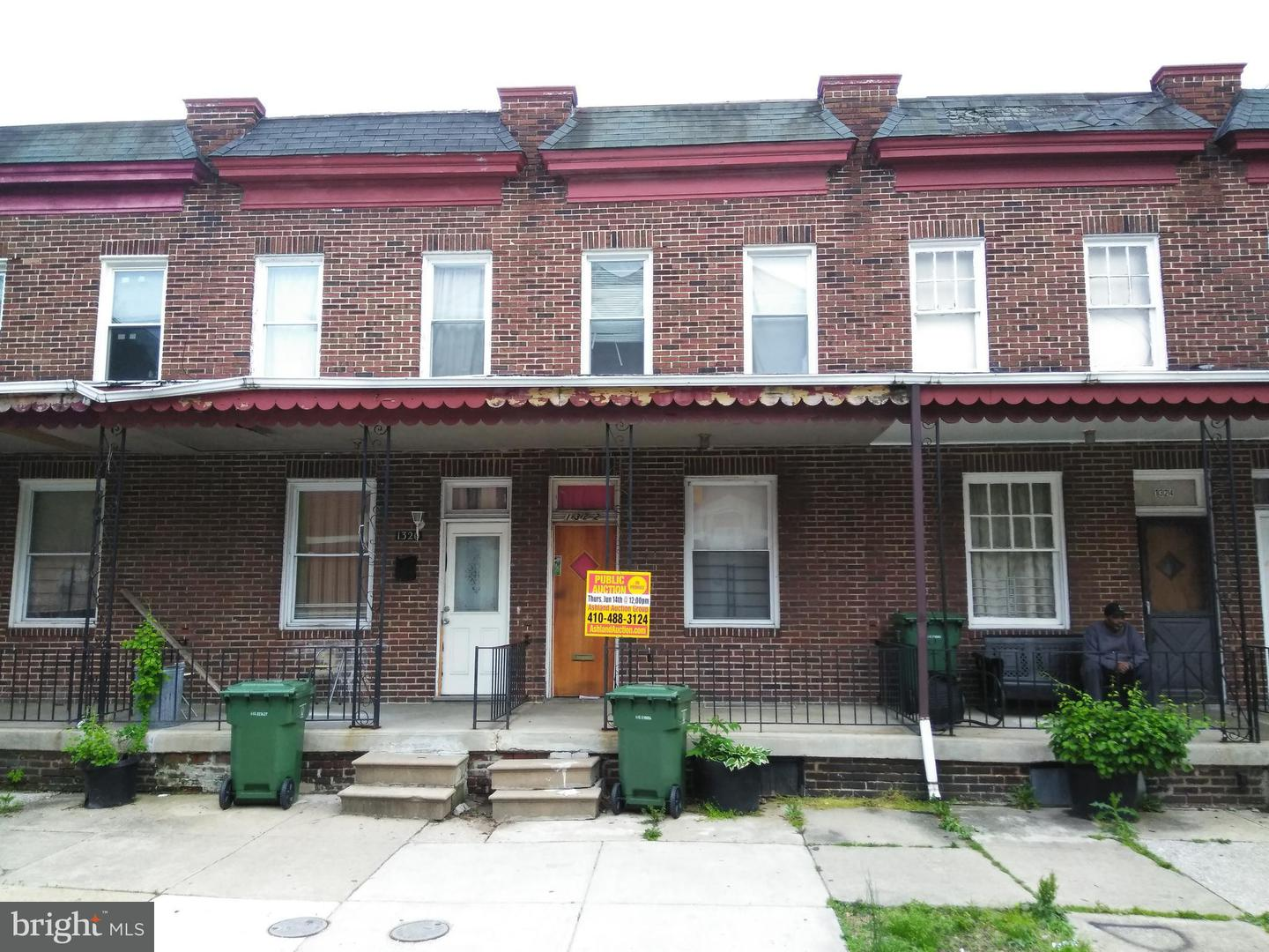 Single Family for Sale at 1322 Division St Baltimore, Maryland 21217 United States