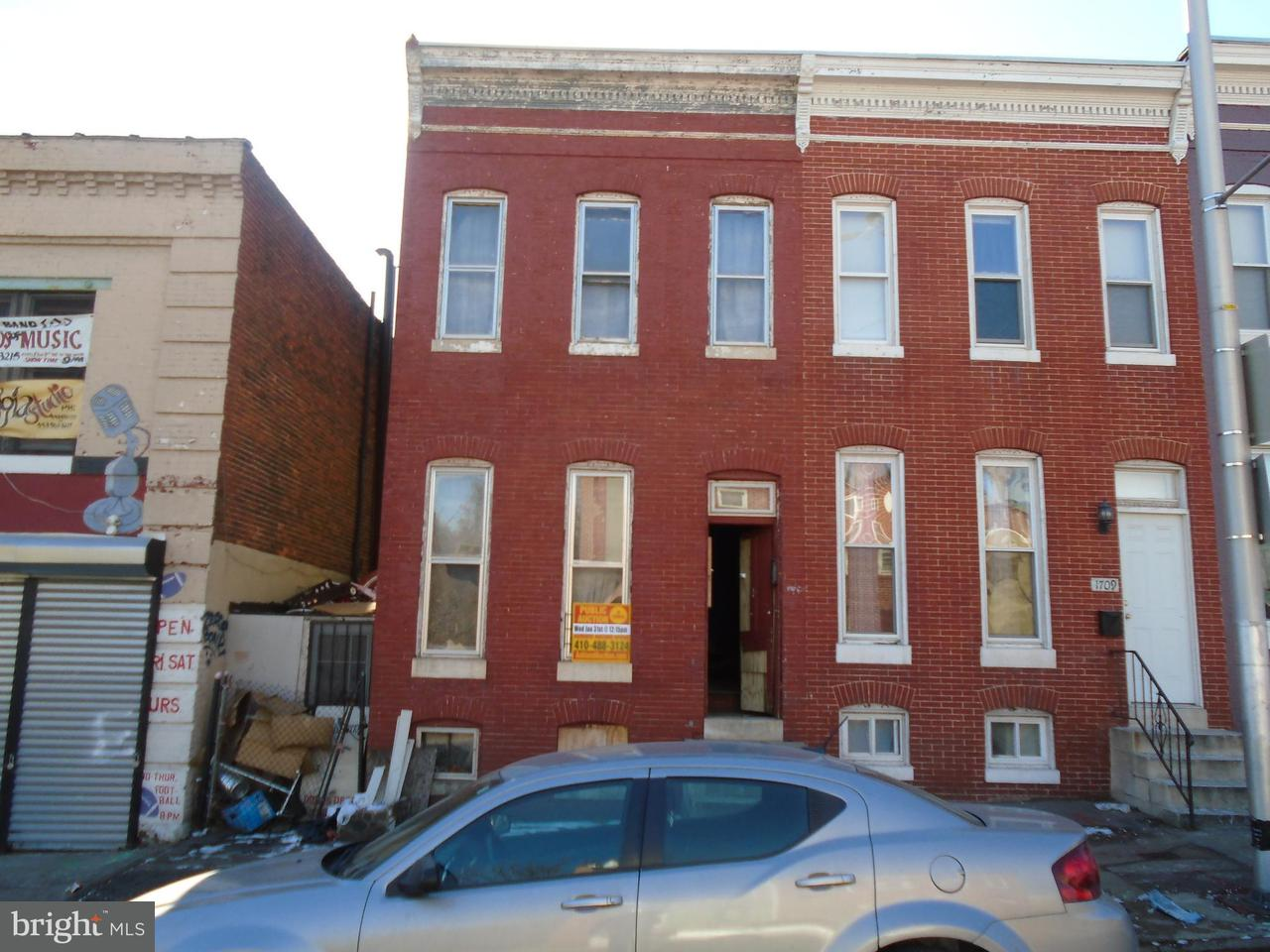 Single Family for Sale at 1707 Baltimore St W Baltimore, Maryland 21223 United States