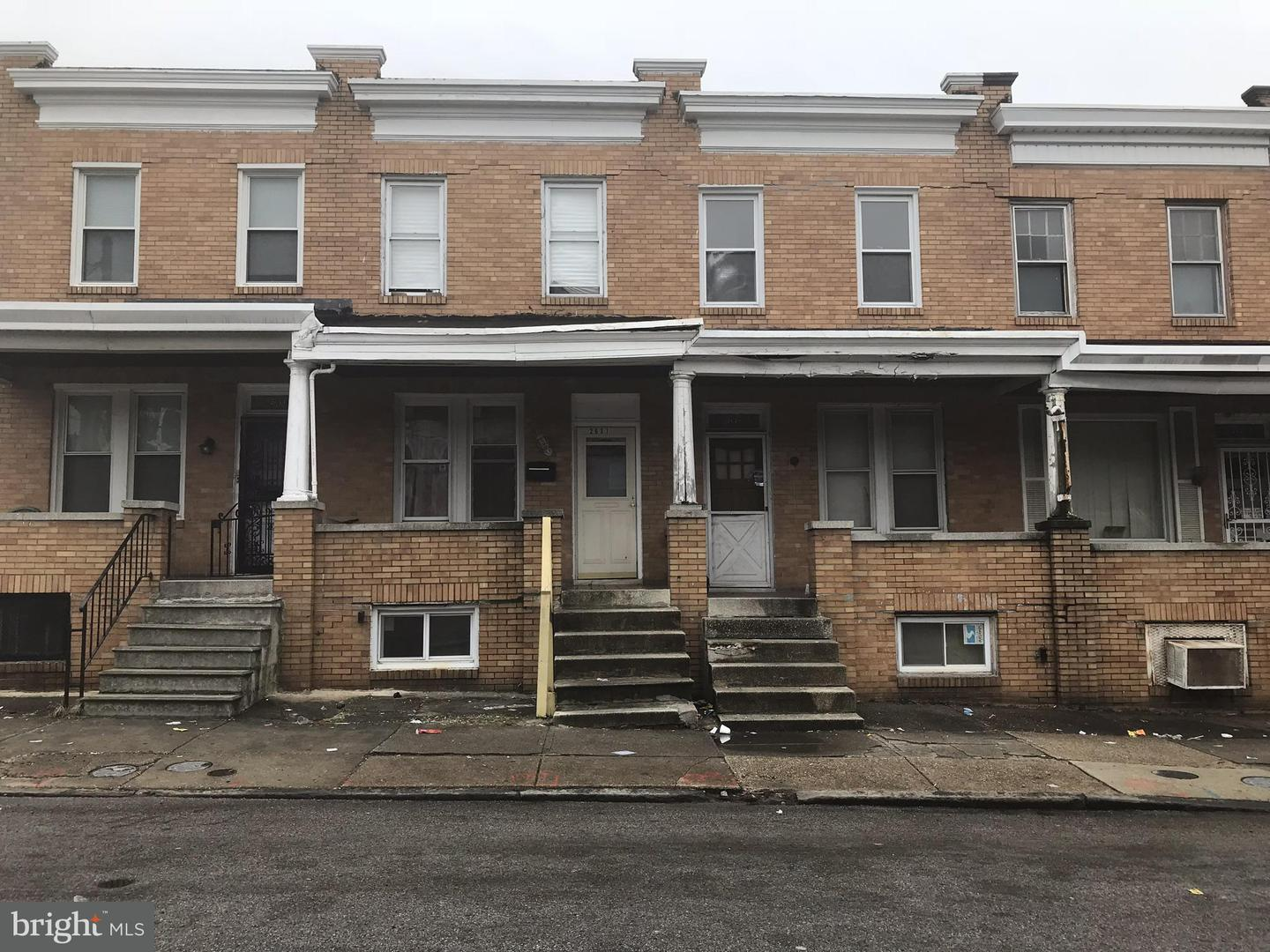 Single Family for Sale at 2631 Preston St E Baltimore, Maryland 21213 United States
