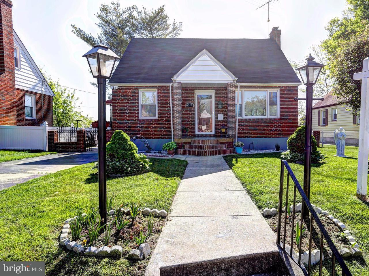 Single Family for Sale at 6011 Plumer Ave Baltimore, Maryland 21206 United States
