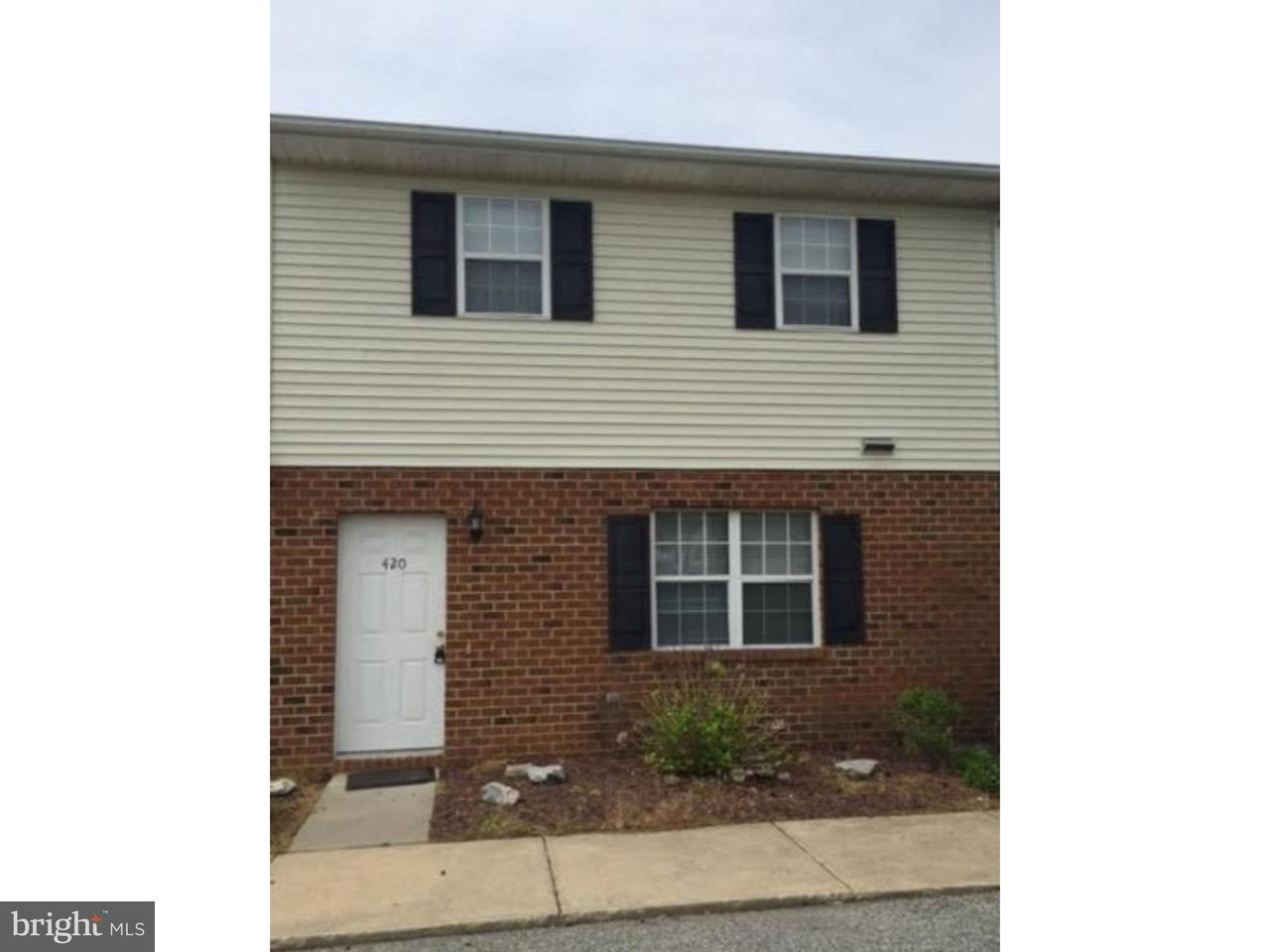 Townhouse for Rent at 432 SMYRNA CLAYTON BLVD Smyrna, Delaware 19977 United States