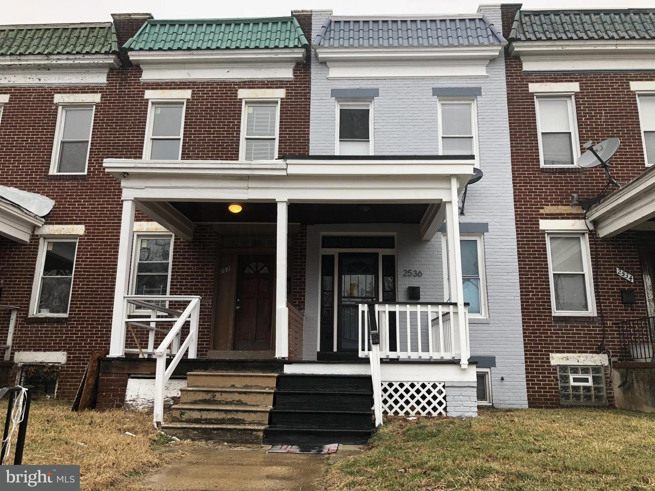 Single Family for Sale at 2536 Oswego Ave Baltimore, Maryland 21215 United States