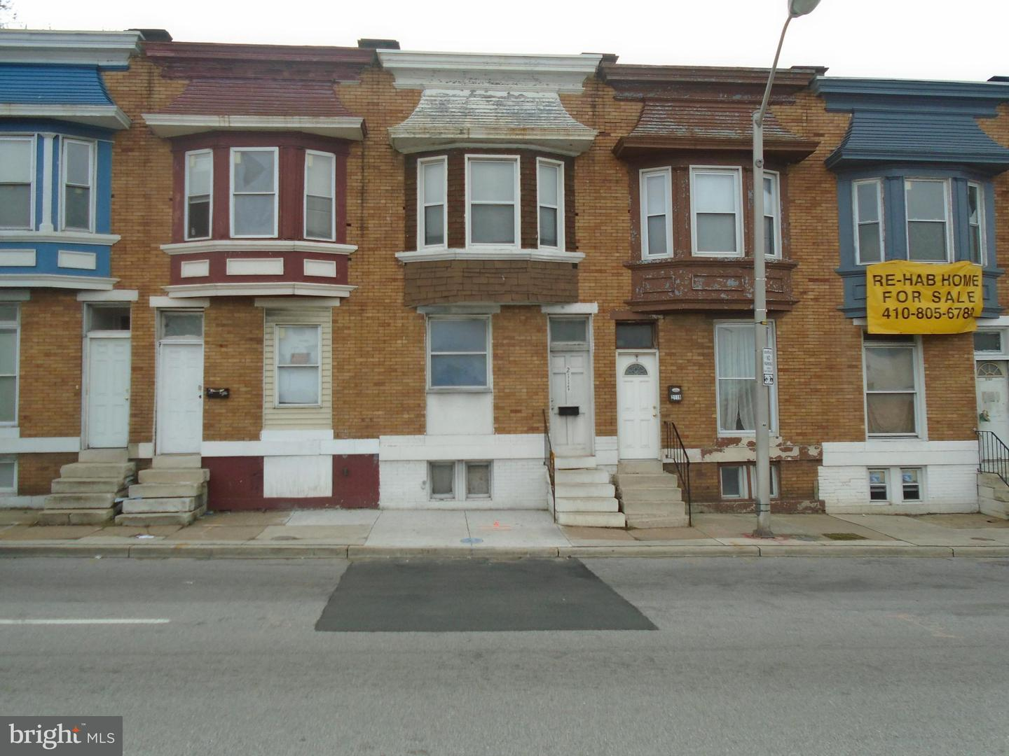 Single Family for Sale at 2117 Mulberry St W Baltimore, Maryland 21223 United States
