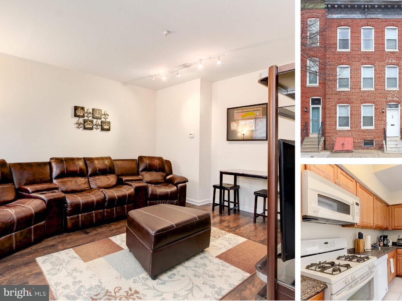 Single Family for Sale at 33 Eden St Baltimore, Maryland 21231 United States