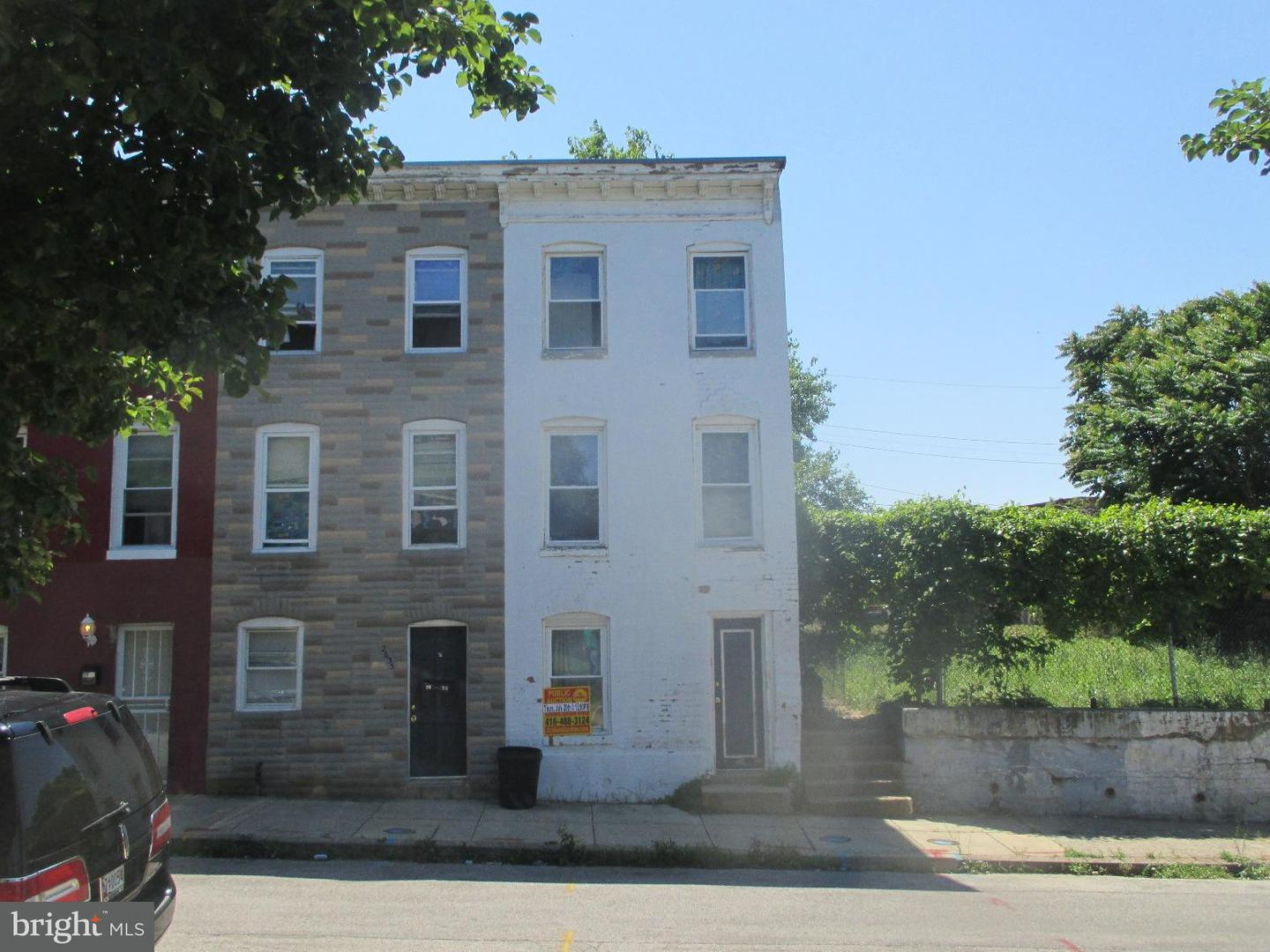 Single Family for Sale at 2637 Dulany St Baltimore, Maryland 21223 United States