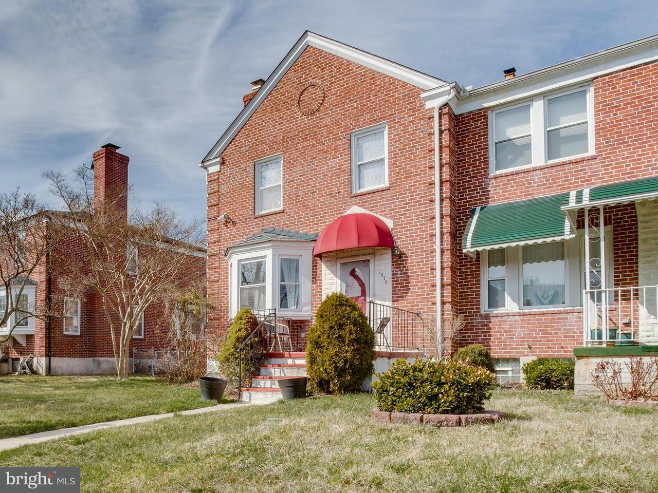 Single Family for Sale at 1530 Burnwood Rd Baltimore, Maryland 21239 United States