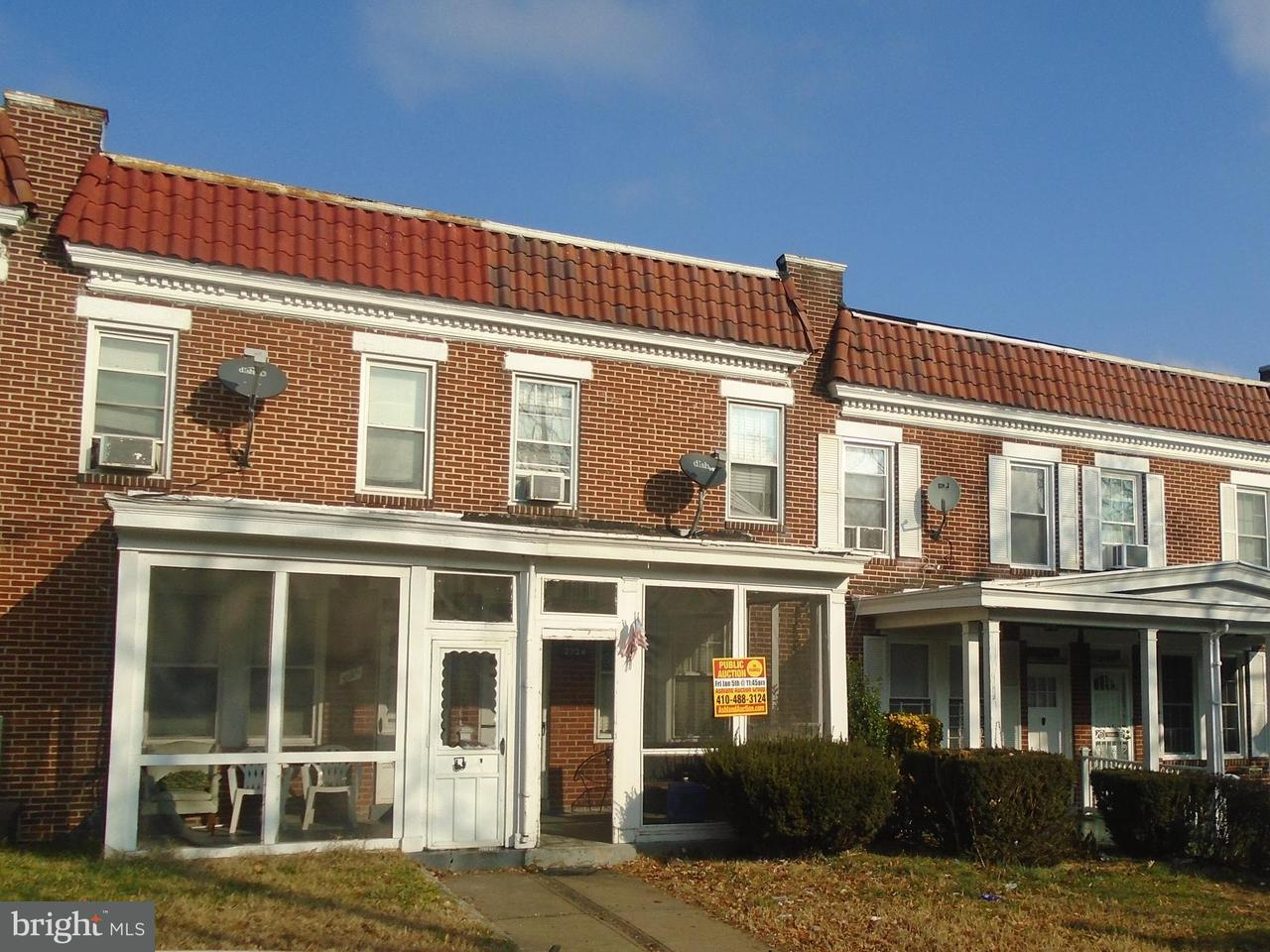 Single Family for Sale at 2734 Ellicott Dr Baltimore, Maryland 21216 United States