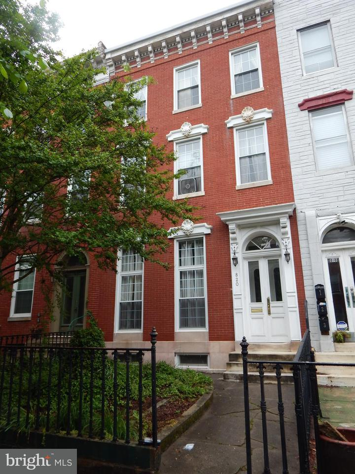 Single Family for Sale at 820 Hollins St Baltimore, Maryland 21201 United States