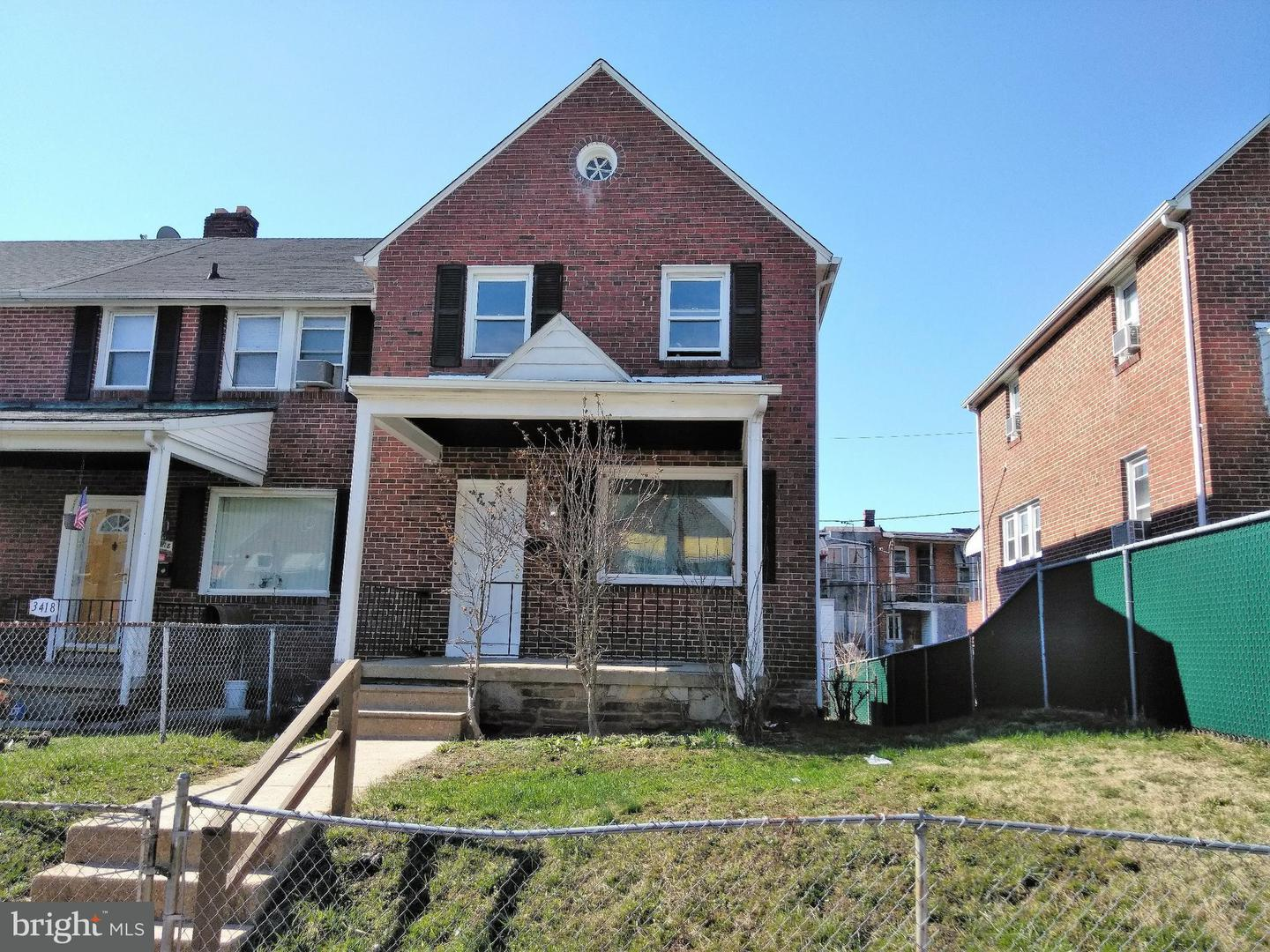 Single Family for Sale at 3416 Royce Ave Baltimore, Maryland 21215 United States