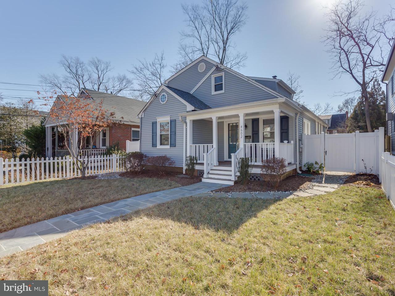 Single Family Home for Sale at 4602 Chestnut Street 4602 Chestnut Street Bethesda, Maryland 20814 United States