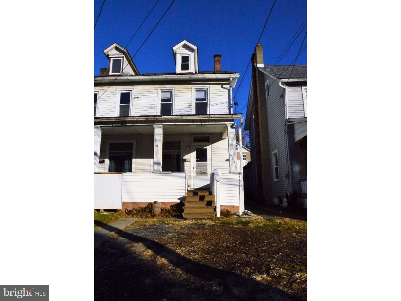 Таунхаус для того Продажа на 417 PENNSYLVANIA Avenue Bangor, Пенсильвания 18013 Соединенные Штаты