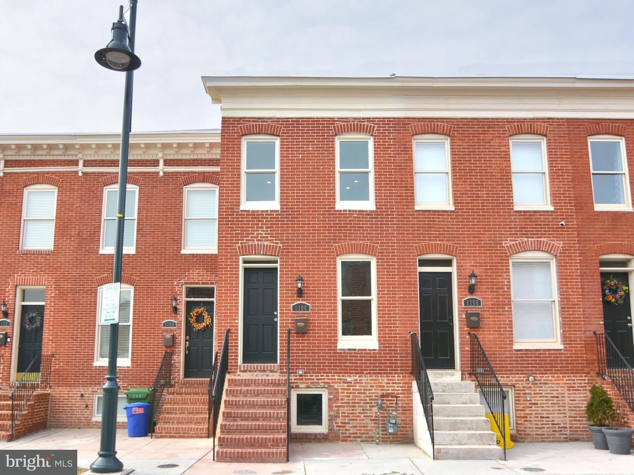 Single Family for Sale at 1106 Mcdonogh St Baltimore, Maryland 21213 United States