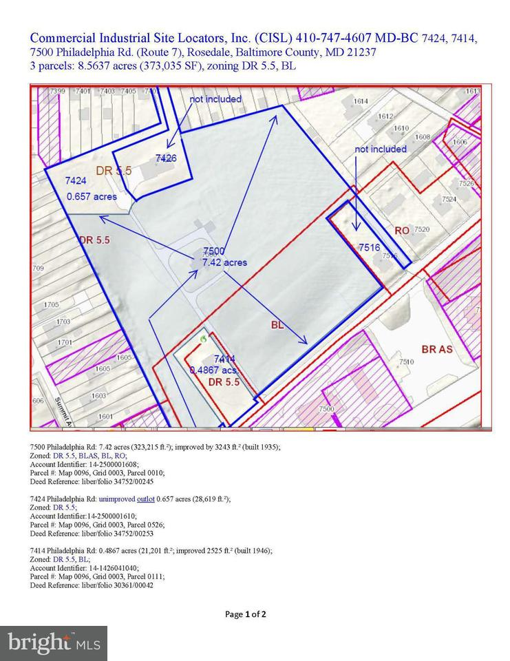 토지 용 매매 에 7500 Philadelphia Road 7500 Philadelphia Road Baltimore, 메릴랜드 21237 미국