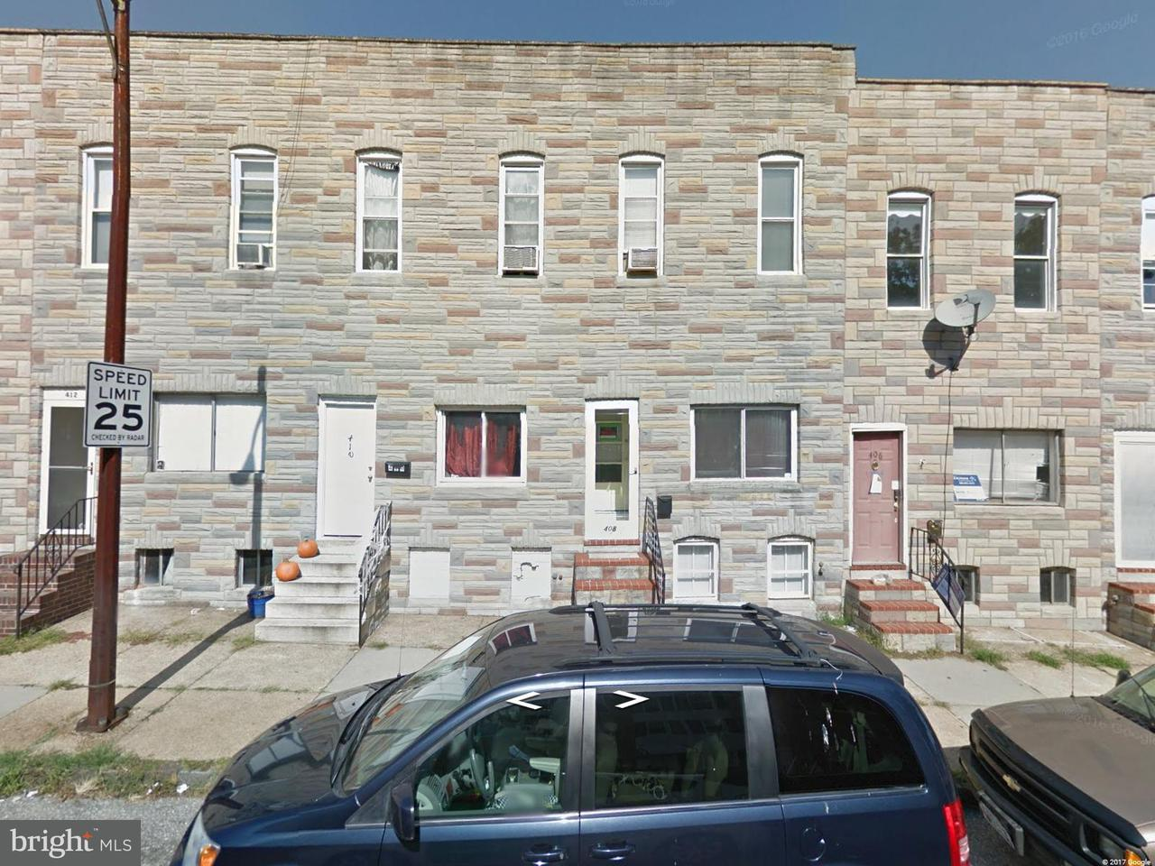 Single Family for Sale at 410 W 23rd St Baltimore, Maryland 21211 United States