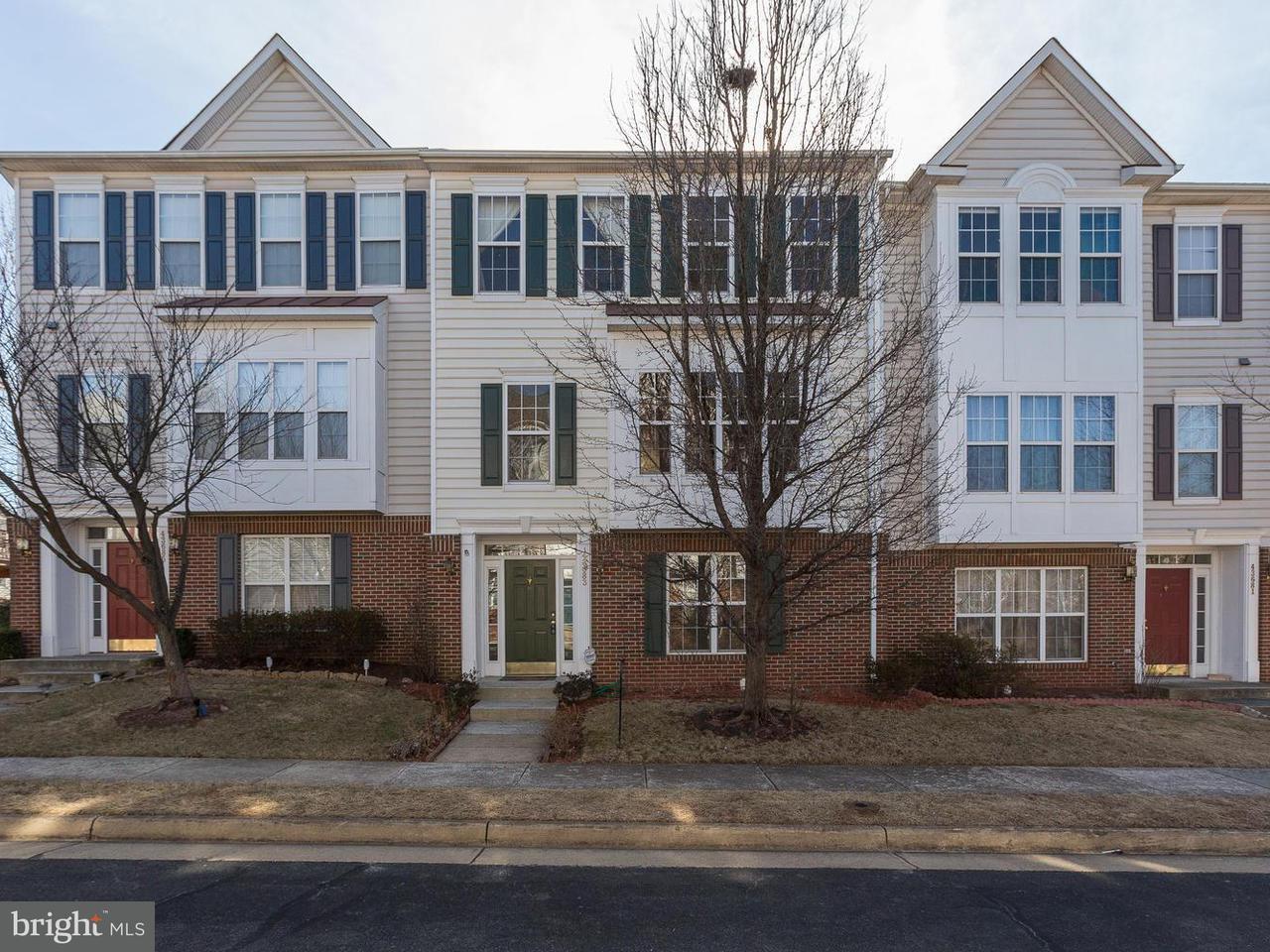 Townhouse for Sale at 43683 Balmoral Ter 43683 Balmoral Ter Ashburn, Virginia 20147 United States