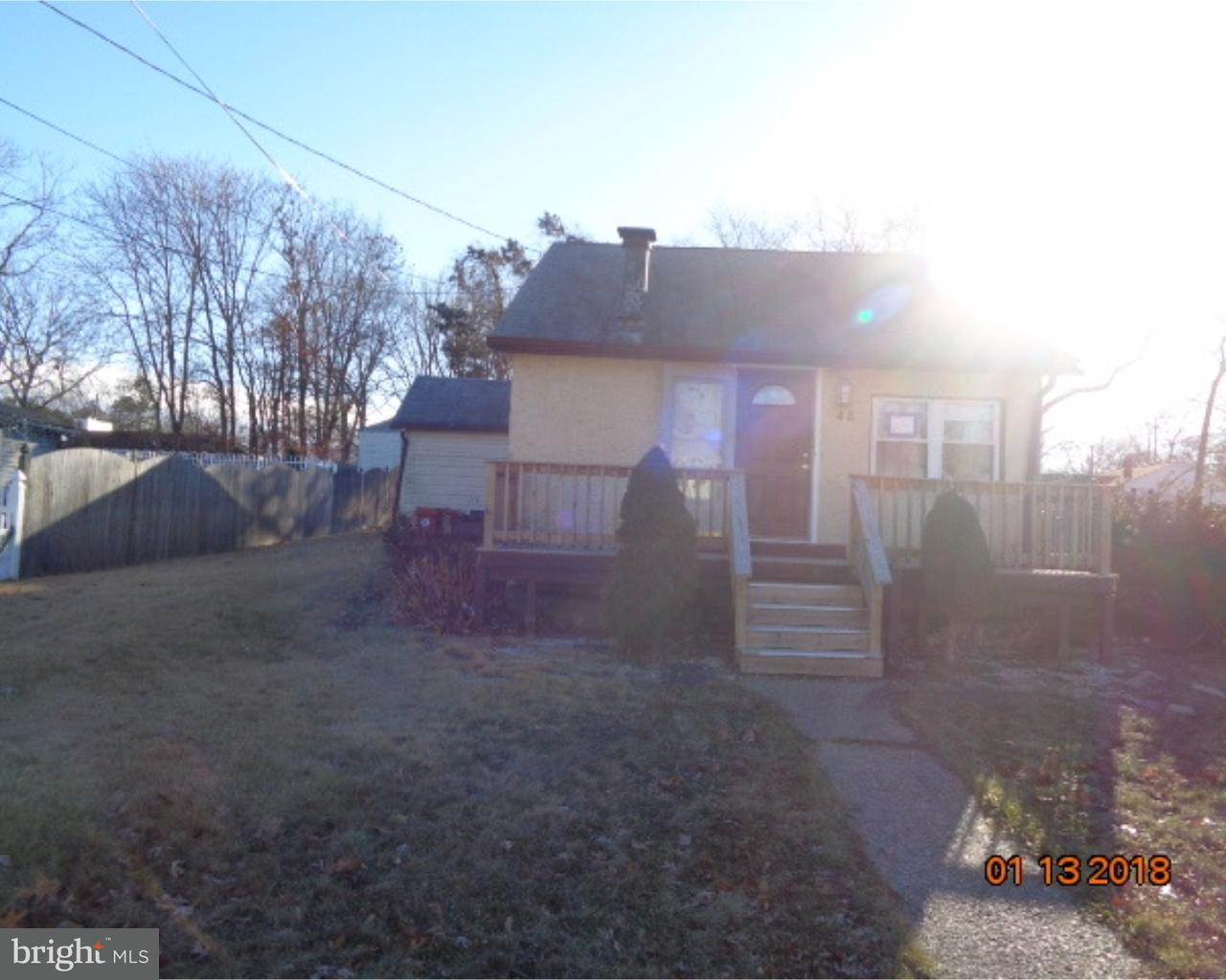 Single Family Home for Sale at 48 E 10TH Avenue Pine Hill, New Jersey 08021 United States