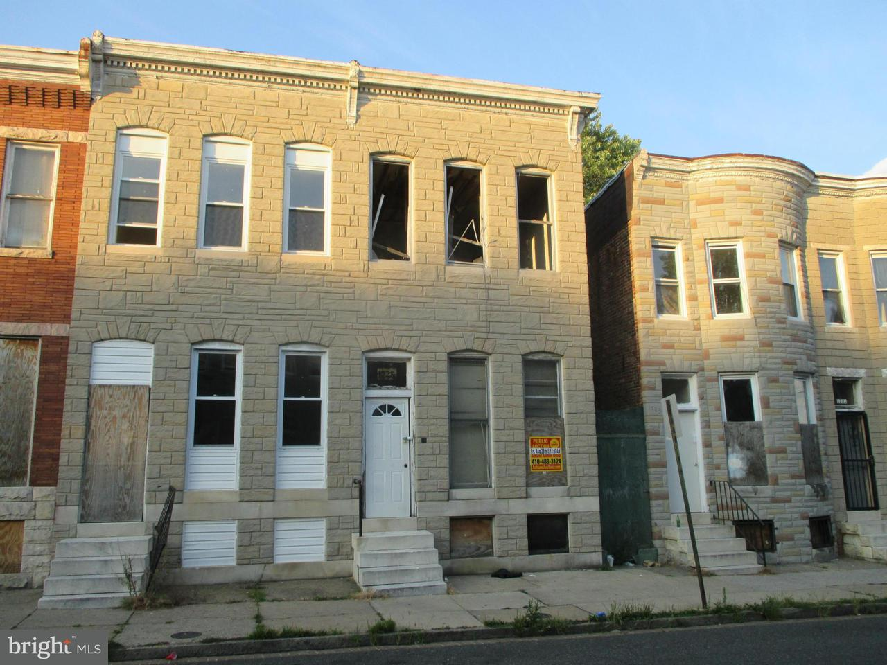 Photo of home for sale at 1725 Carey Street N, Baltimore MD