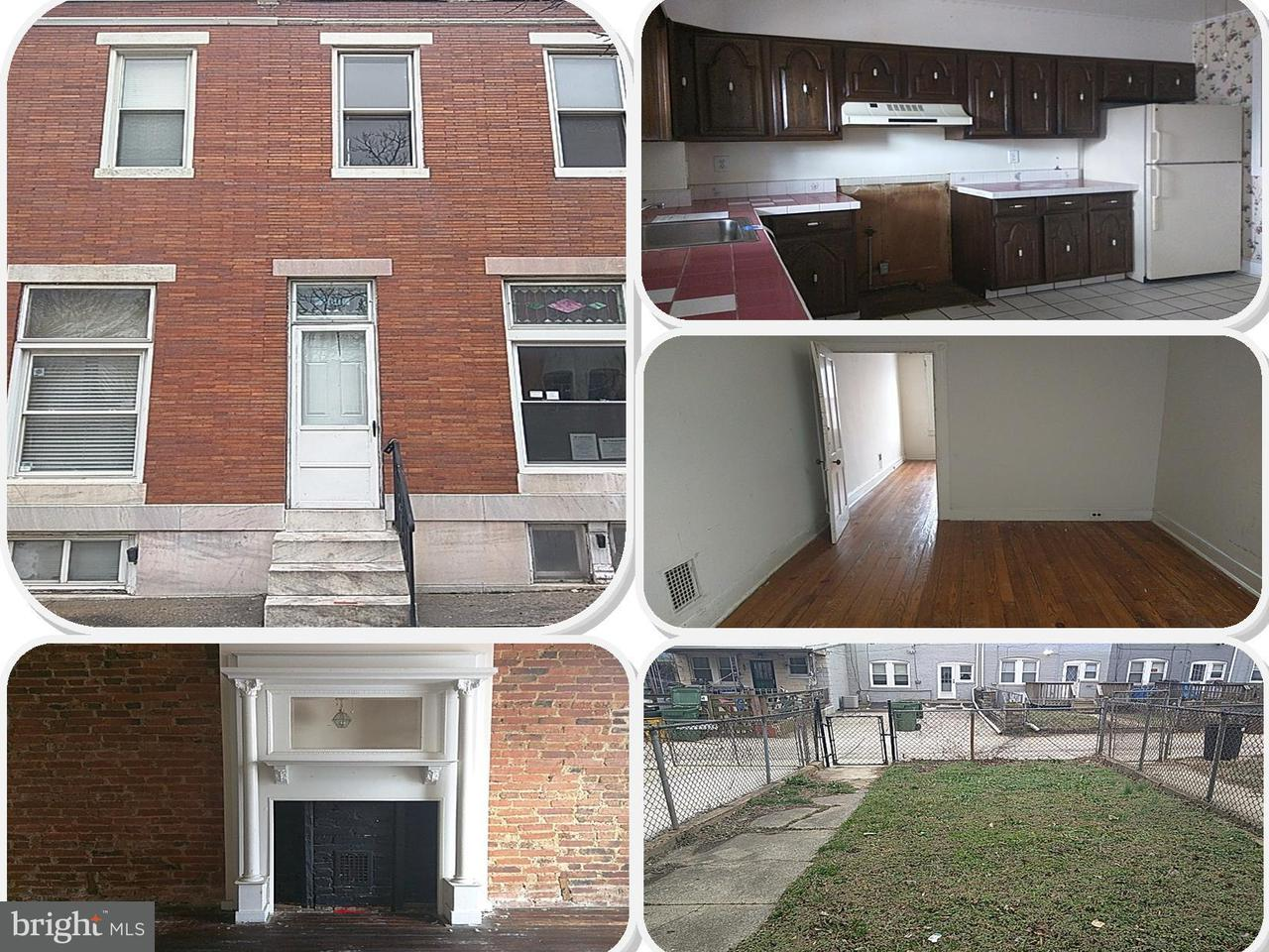 Single Family for Sale at 2611 Wilkens Ave Baltimore, Maryland 21223 United States