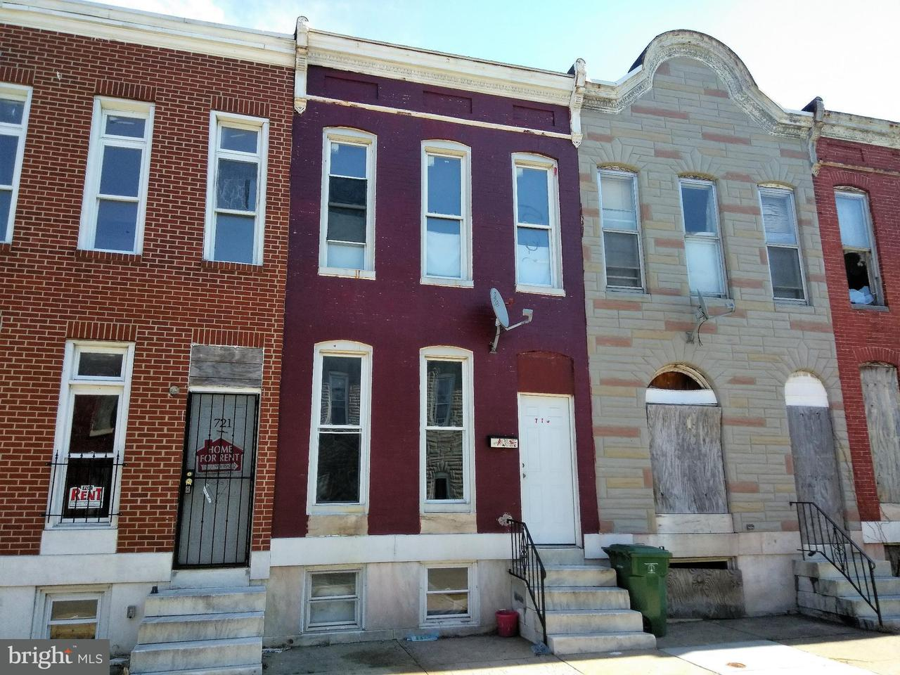 Single Family for Sale at 719 Appleton St Baltimore, Maryland 21217 United States