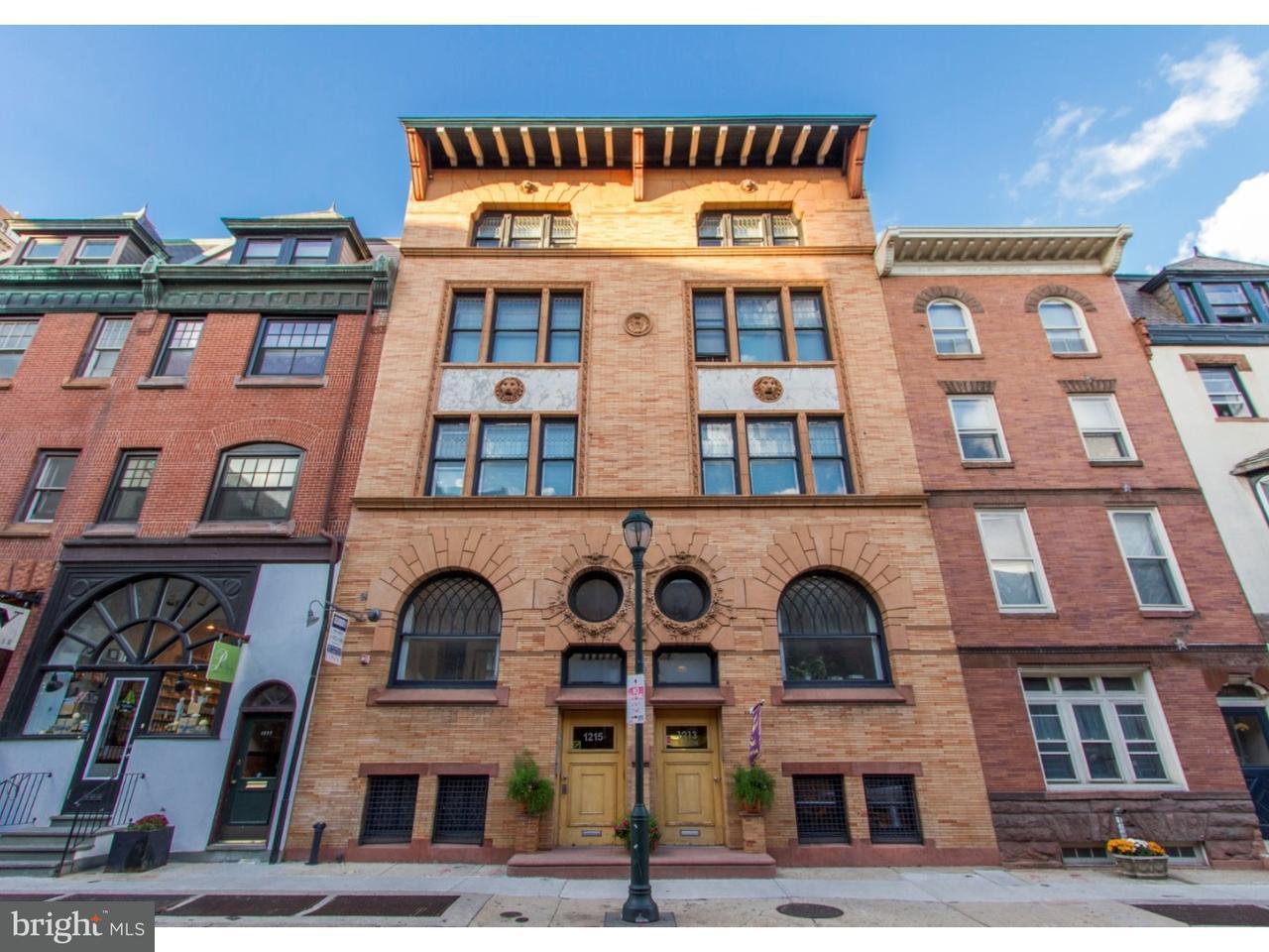 Maison unifamiliale pour l Vente à 1213-15 LOCUST ST #C Philadelphia, Pennsylvanie 19107 États-Unis
