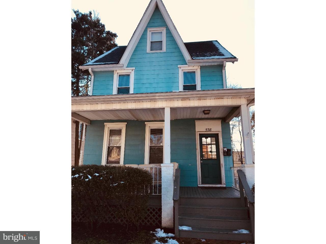 Casa Unifamiliar por un Alquiler en 538 HADDON Avenue Collingswood, Nueva Jersey 08108 Estados Unidos