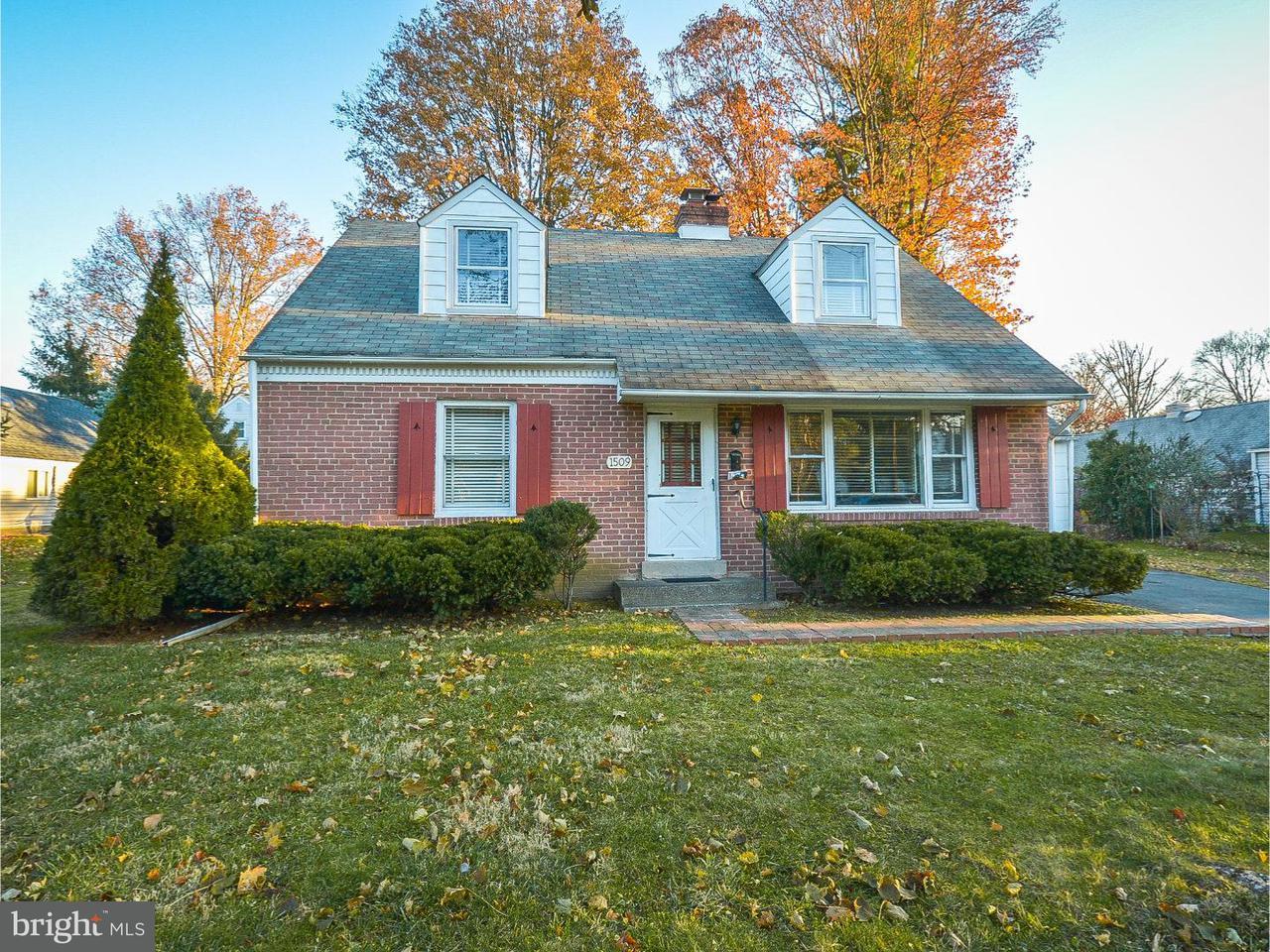 Частный односемейный дом для того Аренда на 1509 CHURCH Road Oreland, Пенсильвания 19075 Соединенные Штаты