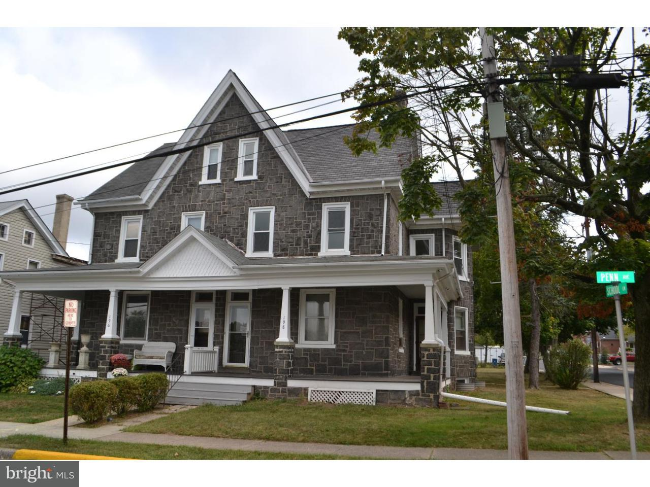 Casa unifamiliar adosada (Townhouse) por un Alquiler en 198 PENN AVE #2ND FL Telford, Pennsylvania 18969 Estados Unidos
