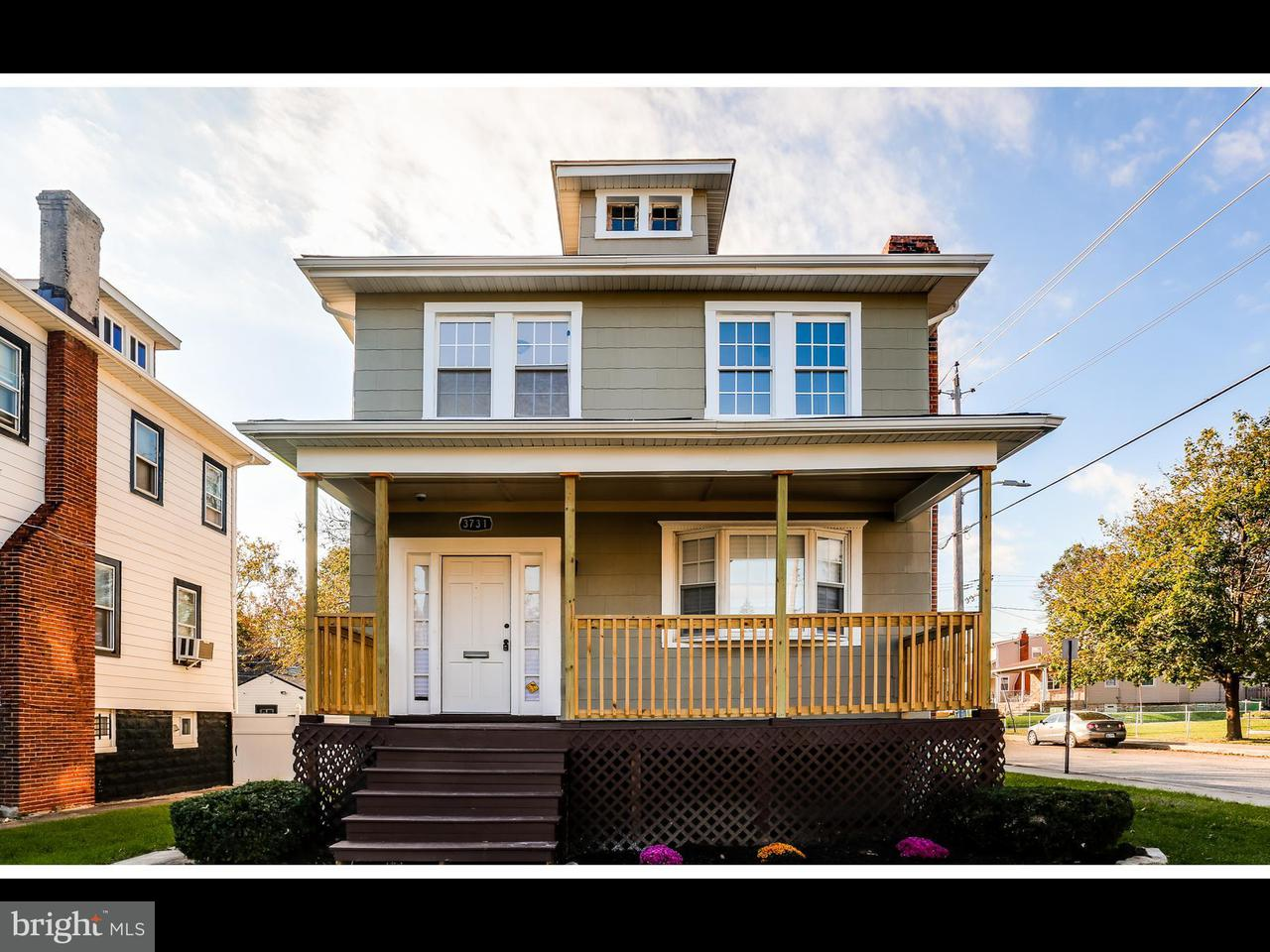 Single Family for Sale at 3731 Belle Ave Baltimore, Maryland 21215 United States