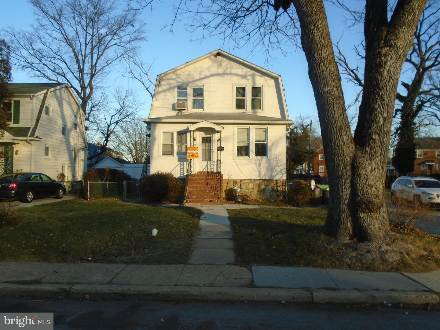 Single Family for Sale at 3825 Callaway Ave Baltimore, Maryland 21215 United States