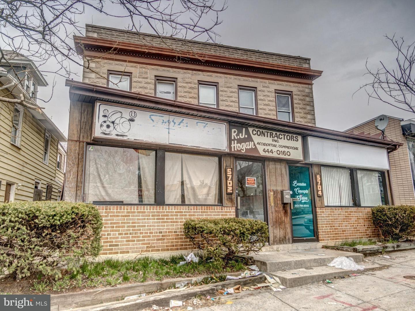 Commercial for Sale at 5702 Harford Rd Baltimore, Maryland 21214 United States