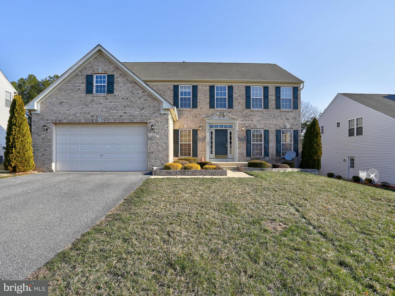 Single Family Home for Sale at 1633 Bear Paw Lane 1633 Bear Paw Lane Hanover, Maryland 21076 United States