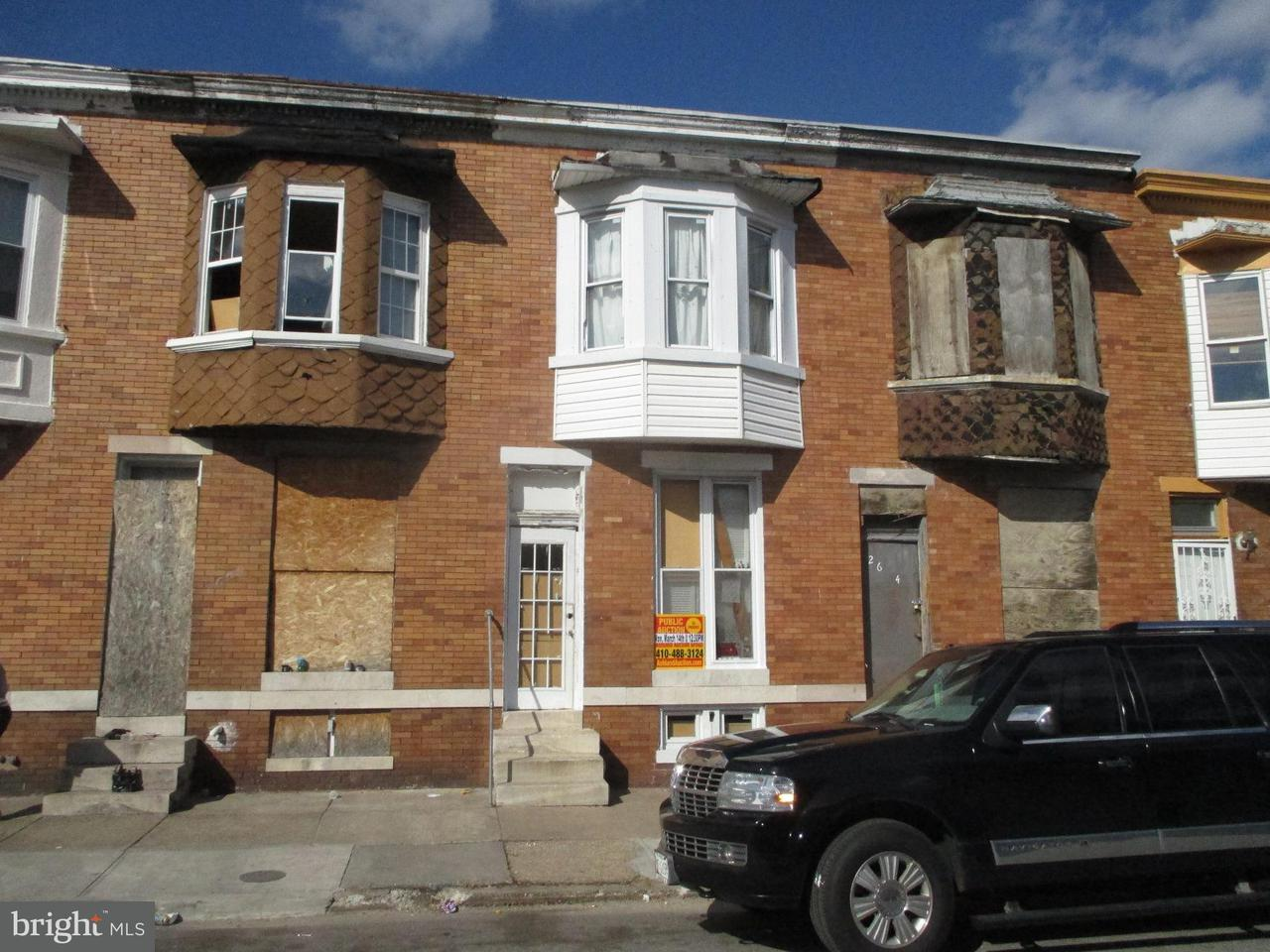 Single Family for Sale at 2606 Fairmount Ave W Baltimore, Maryland 21223 United States