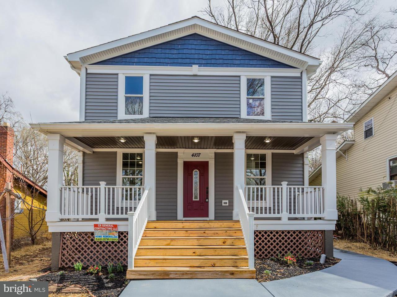 Casa Unifamiliar por un Venta en 4107 30th Street 4107 30th Street Mount Rainier, Maryland 20712 Estados Unidos
