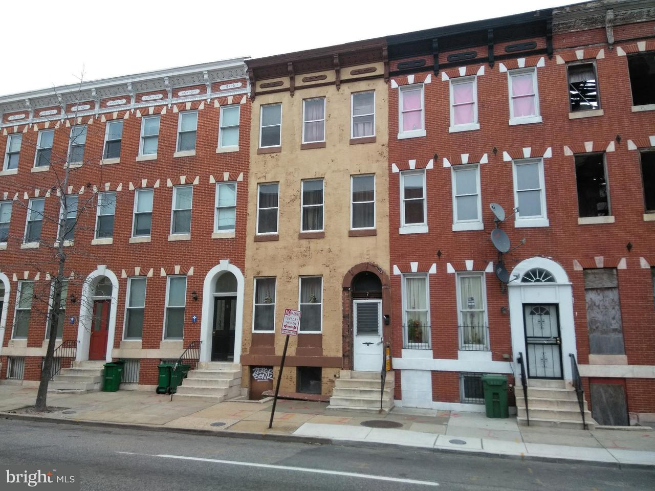 Single Family for Sale at 7 Fulton Ave Baltimore, Maryland 21223 United States