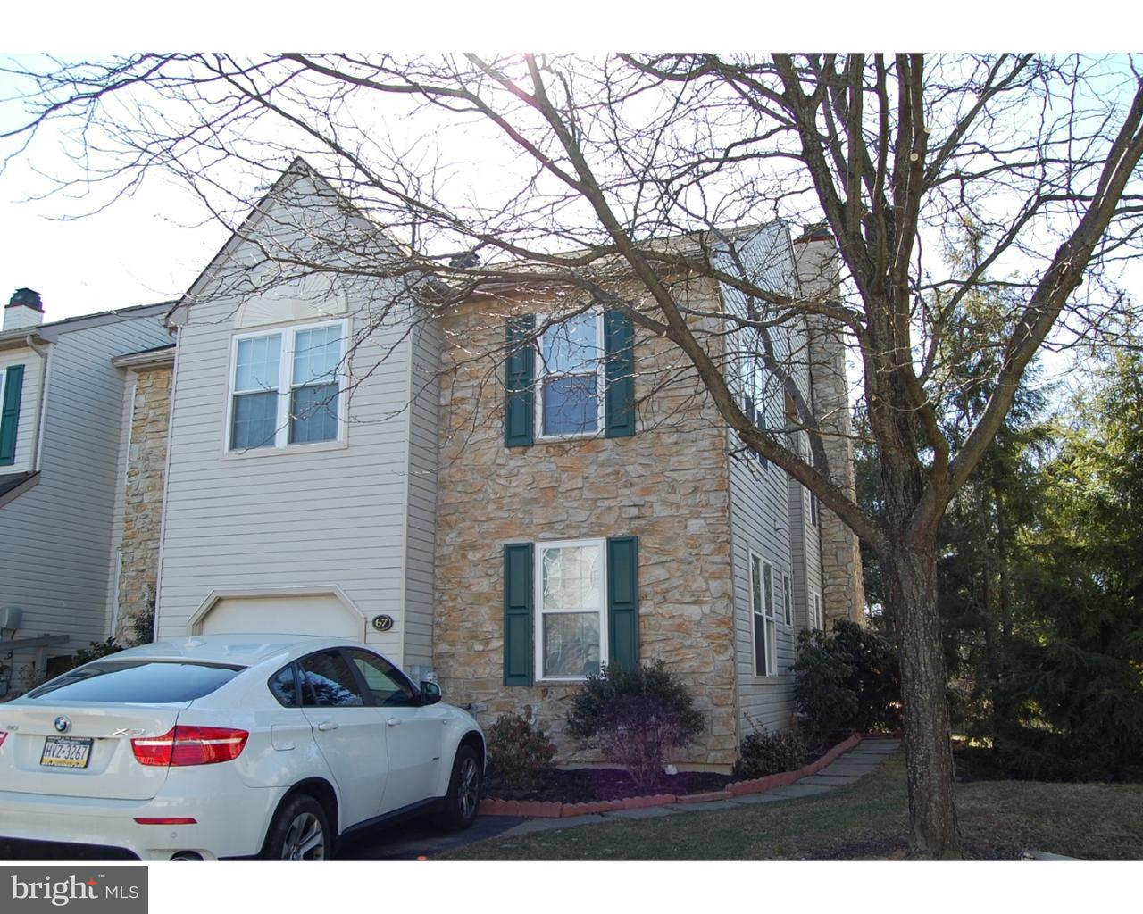 Single Family Home for Rent at 67 BRISTOL Court Norristown, Pennsylvania 19403 United States