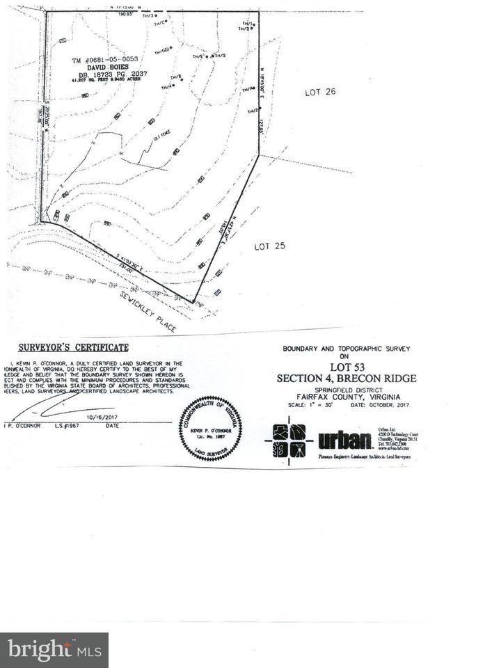 Terreno por un Venta en 11105 Sewickley Place 11105 Sewickley Place Fairfax, Virginia 22030 Estados Unidos